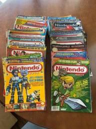 Lote com 65 revistas Nintendo World