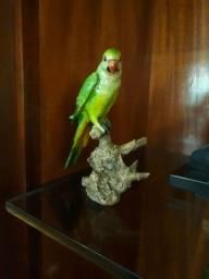 Papagaio de louça, peça decorativa de época.