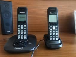 Telefone sem fio Panasonic com Secretária Eletrônica e +1 Ramal