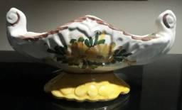 Vaso de porcelana cesta antigo