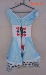 Vestido Alice no país das maravilhas tamanho 10