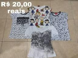 LOTE de Quatro blusas usadas sem avarias
