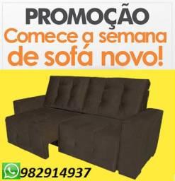 Belissimo Sofa Retratil,Super Confortavel,Ideal para Apartamento Com Frete Gratis!!