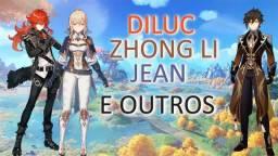 Genshin Impact Diluc+ZhongLi+Jean