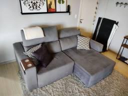 Sofá 2,30m reclinável com Chaise.