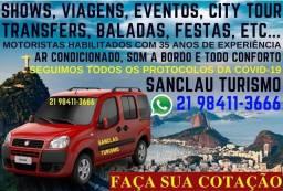 Turismo, Eventos, City tour, Transporte executivo e Viagens.