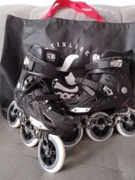 Roller patins e kit segurança