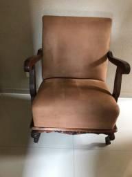 Cadeira provençal  entalhada