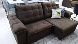 Título do anúncio: Sofá Neusa retrátil e reclinável novo  ( 2.40 ) a pronta entrega em 10x s/ juros