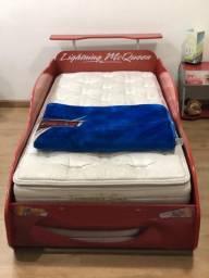 Conjunto cama criado e colchão carros