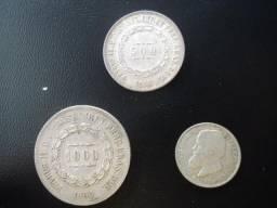 3 Moedas de Prata do Brasil