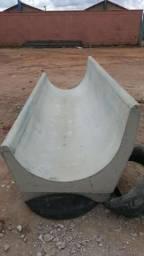 Cocho de cimento para confinamento, ração, gado, semiconfinamento