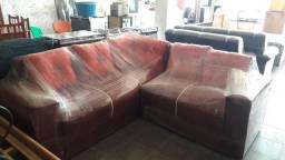 Sofa de canto vermelho Novo