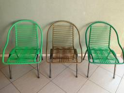 3 Cadeiras de Fio, parcelo no cartão