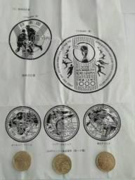 Moedas japonesa raras. Comemorativas Copa do Mundo Japão koreia 2002
