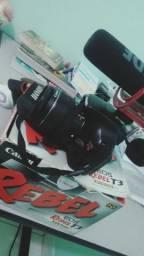 Canon Rebel T3 e Microfone Rode