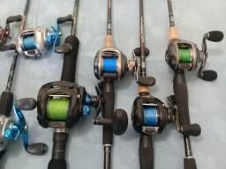 Carretilhas e varas de pesca