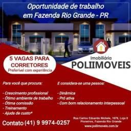 Vagas de emprego para corretor em Fazenda Rio Grande