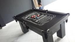 Mesa de 4 Pés | Mesa Preta | Tecido Preto | Jack Daniels | Modelo: PGYV0193