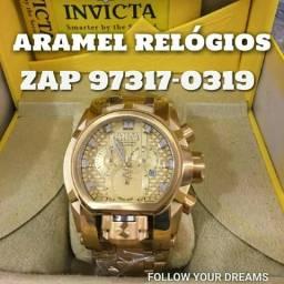 2f31cf7e1a8 ARAMEL RELÓGIOS Invicta Magnum Dourado