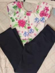 Conjunto blusinha peplum calça flare Tam 6