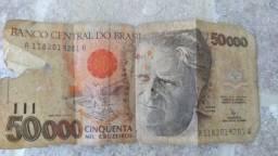 Vendo Nota De 50 Mil Cruzeiros Para Colecionadores