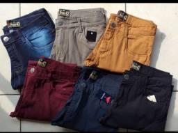 Calça jeans masculina e bermudas