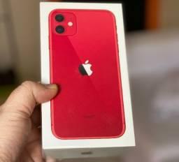 IPhone 11 Vermelho 256gb, NF + Garantia 1 ano, A2221, Anatel, Lacrado, Zero, Novo