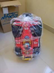 Bolsa escolar e lanchaira Maxtoy 3D fórmula 1