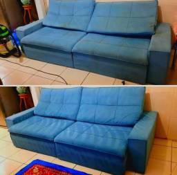 Limpeza e Higienização de sofá com descontaminação microbiana por luz ultravioleta