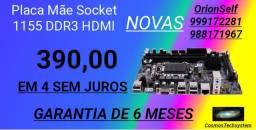 Placa Mãe 1155-4 SEM JUROS NOVAS + Garantia de 6 Meses