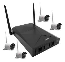 Kit 4 Câmeras de Segurança Nvr Ipega Visão Noturna com Detecção movimento