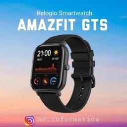 Relogio Xiaomi Amazfit Gts Preto Novo Zero + Garantia