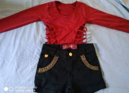 Vende-se short e cropped