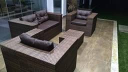 Sofa de Vime (Conjunto)