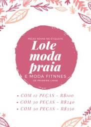 LOTE DE MODA PRAIA - PEÇAS NOVAS E SEM AVARIA