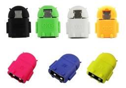 Adaptador Micro Usb V8 Otg Pendrive P/ Celular Android Robo