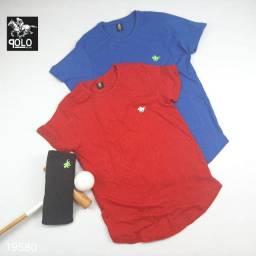 Camisa Polo sem gola.