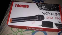 Caixa amplificada + Microfone