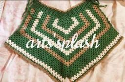 Biquíni, cropped, short... De crochê