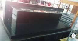 Vendo Rack para Tv de vidro com madeira, semi novo comprido