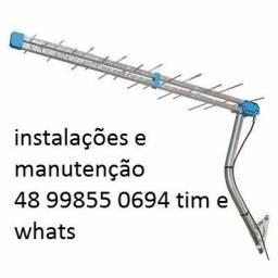Antenas,instalações,manutenção,apontamento