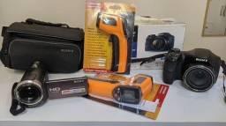 Kit com câmeras e medidor de temperatura
