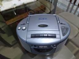 Rádio cd, toca fitas