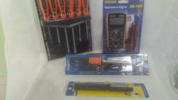 Multimetro Digital + Ferro De Solda +KIT De Chaves De Fenda Philips +Sugador De Solda