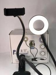 Ring Light flexível com suporte de celular