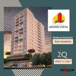 Imóvel com planta diferenciada - 62 e 72 m² - 2 quartos com suite- torre Unica