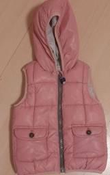 Colete nylon Zara baby tamanho 2/3 anos cor de rosa