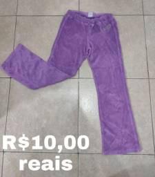Calça pijama felpuda lilás