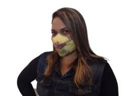 Mascara 3D Tricoline 100% Algodao Estampada